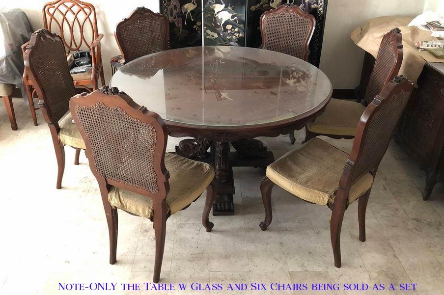Solid Wood Dining Table Set Vintage Metro Manila Area Home Furniture Furniture Fixtures Tables Chairs On Carousell
