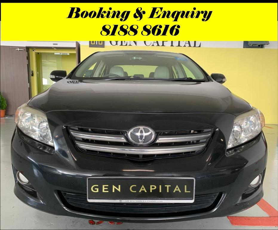 Toyota Altis No more monday blues.. We have lowered rental rates due to Coronavirus for you to travel with a peace of mind. Super Fuel efficient & Spacious. $500 Deposit driveoff immediately! whatsapp 81888616 now to reserve!!