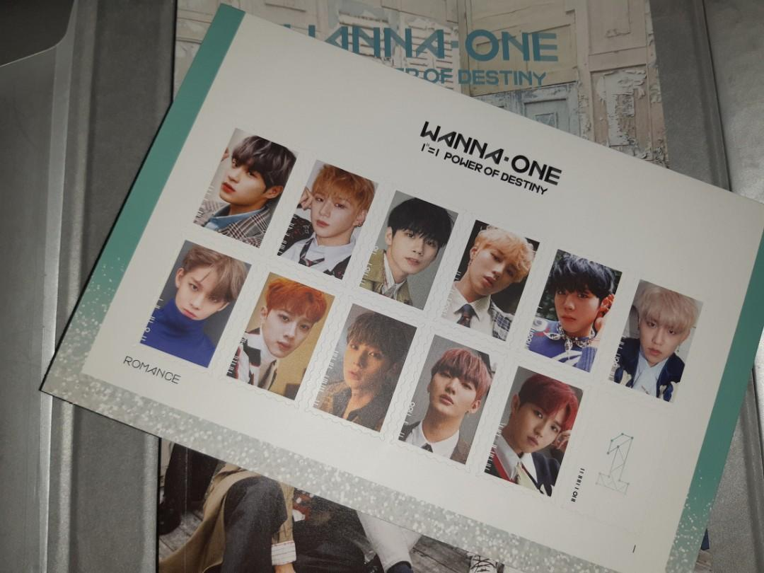 WTS WANNA ONE STAMP STICKERS FROM POWER OF DESTINY ALBUM ROMANCE VER