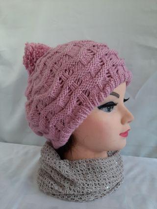 雙層針織保暖帽   批發價出清