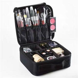專業化妝箱 黑色手提美容工具包 紋繡 眉睫