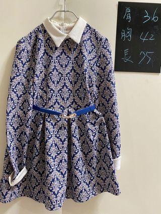 韓版青花瓷洋裝上衣兩件