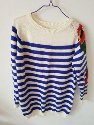 Striped Parrot Pullover