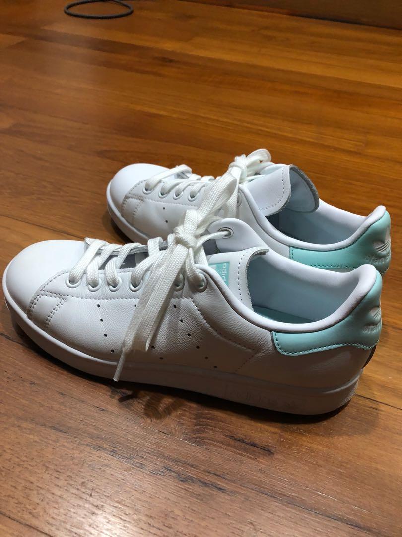 Adidas Stan Smith Turquoise White, Women's Fashion, Footwear ...
