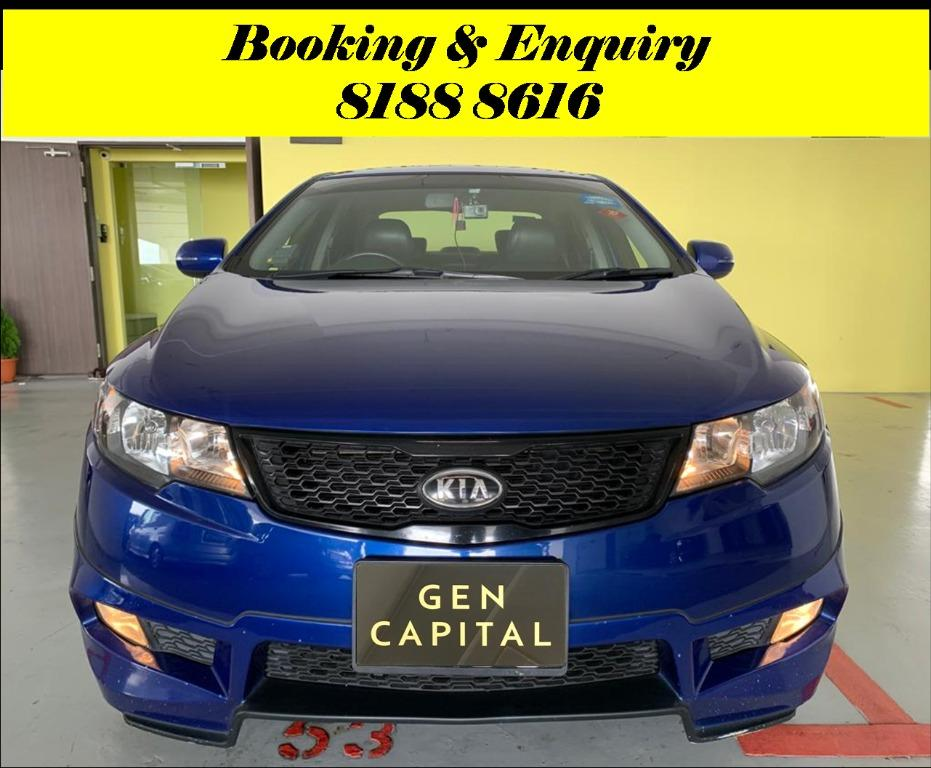 Kia Cerato Forte 1.6A Tuesday Promo with 2days free rentals!! Super Fuel efficient & Spacious. Cheapest rental in town with just $500 Deposit driveoff immediately. Whatsapp 8188 8616 now to reserve!