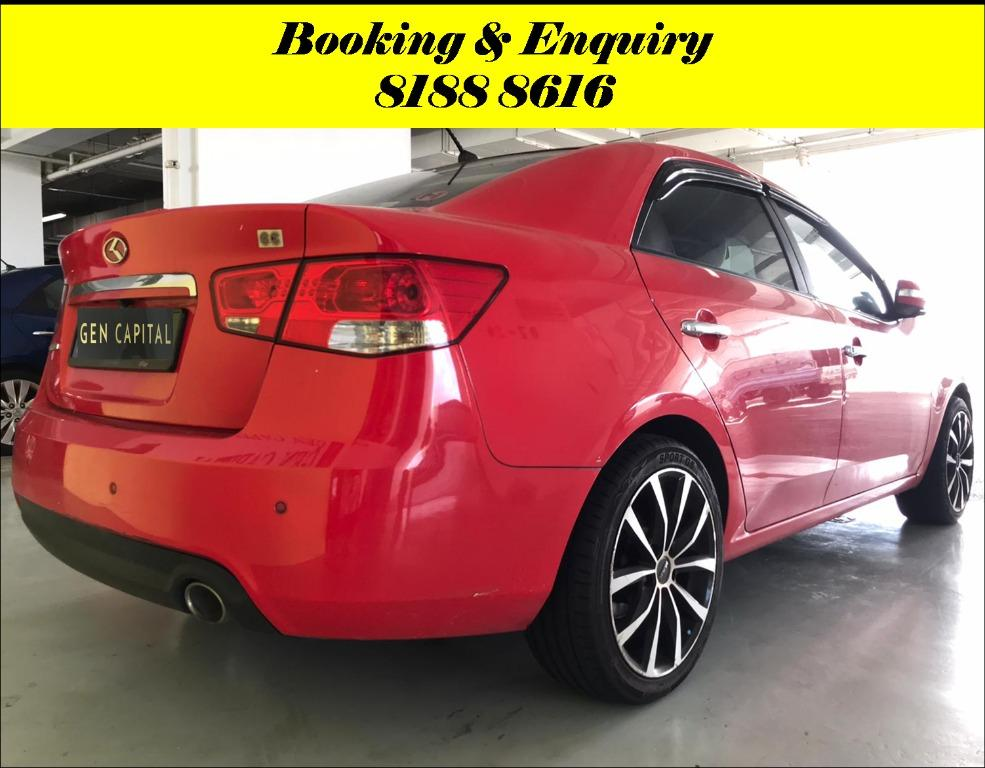 Kia Cerato Tuesday Promo with 2days free rentals!! Super Fuel efficient & Spacious. Cheapest rental in town with just $500 Deposit driveoff immediately. Whatsapp 8188 8616 now to reserve!