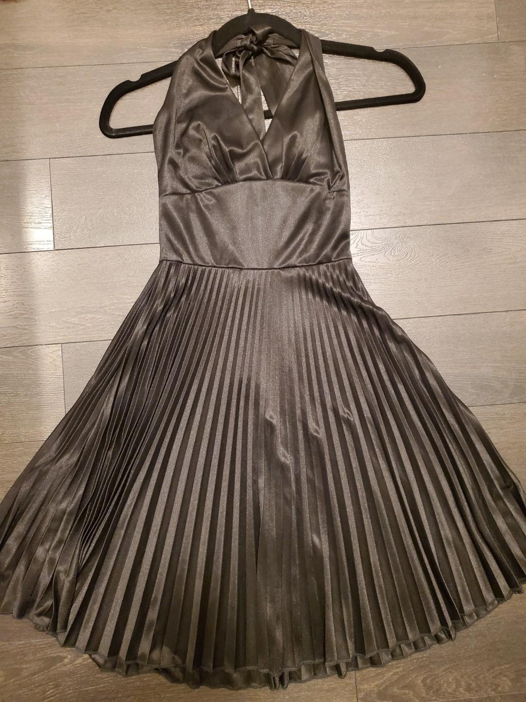 Le Chateau Satin Halter Dress - Size XXS (Fits like XS)