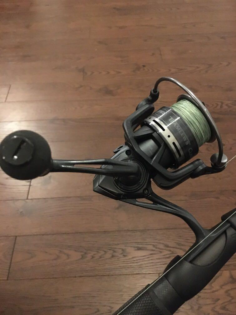 Lews custom black spinning combo (contact for more details)