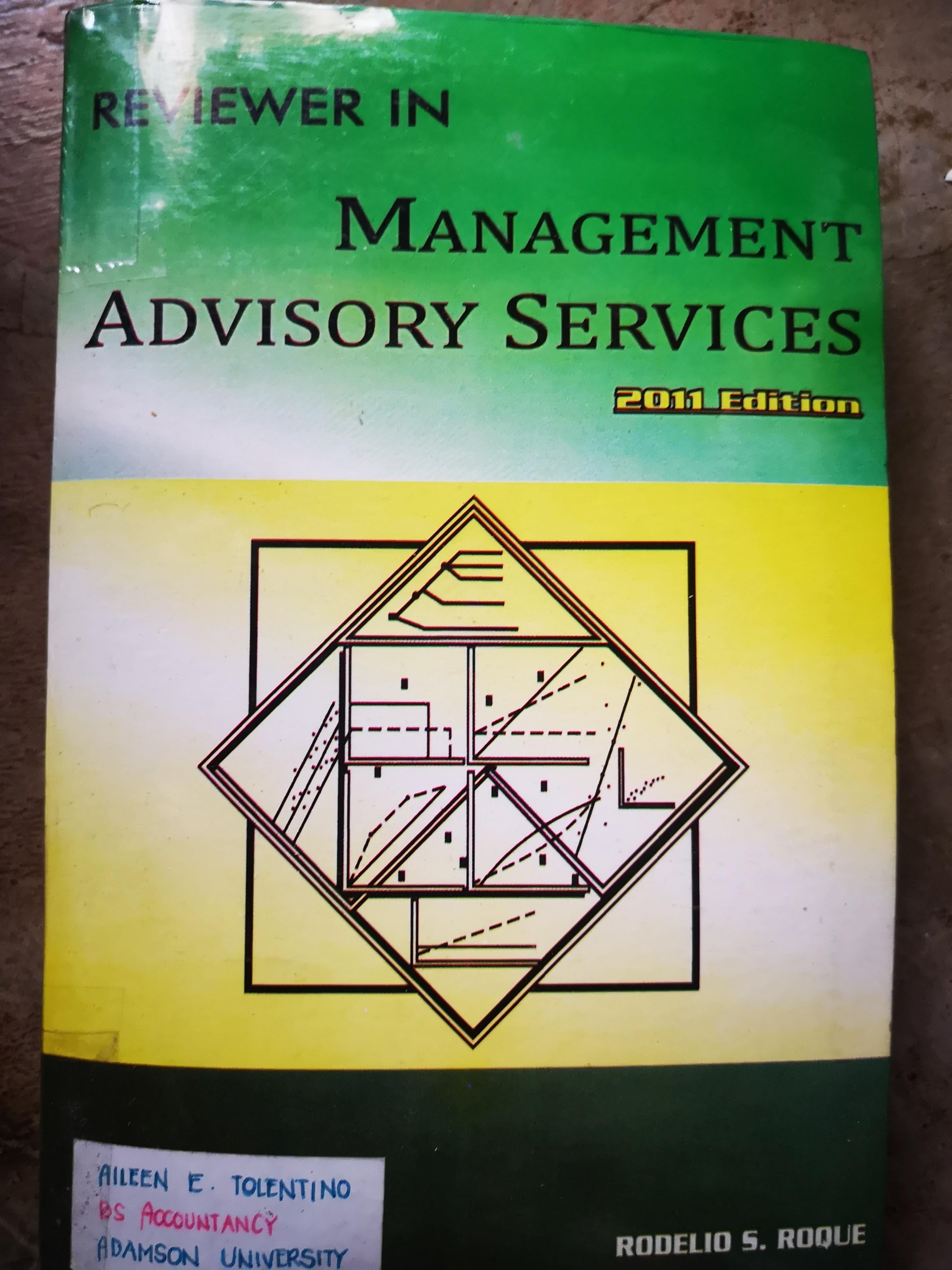 Management Advisory Services (CPA Board Exam Reviewer) by Rodelio Roque