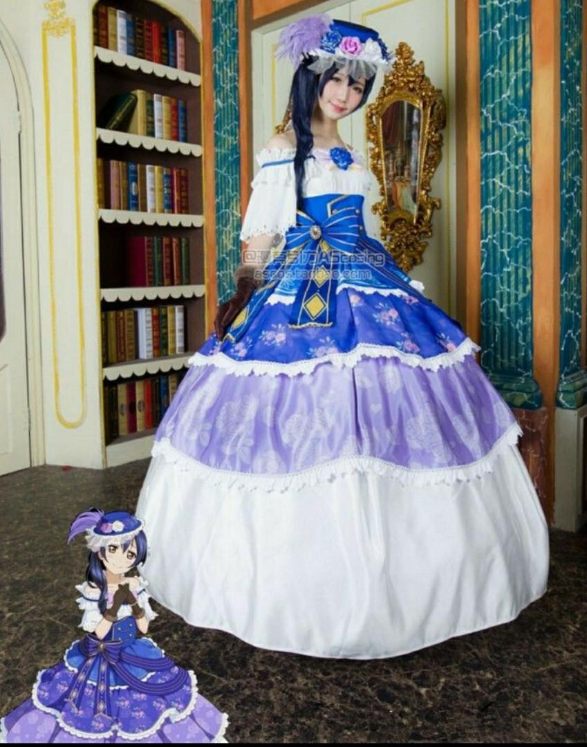 RENT/SALE Love Live! Umi Sonada Victorian Ballgown Cosplay Costume