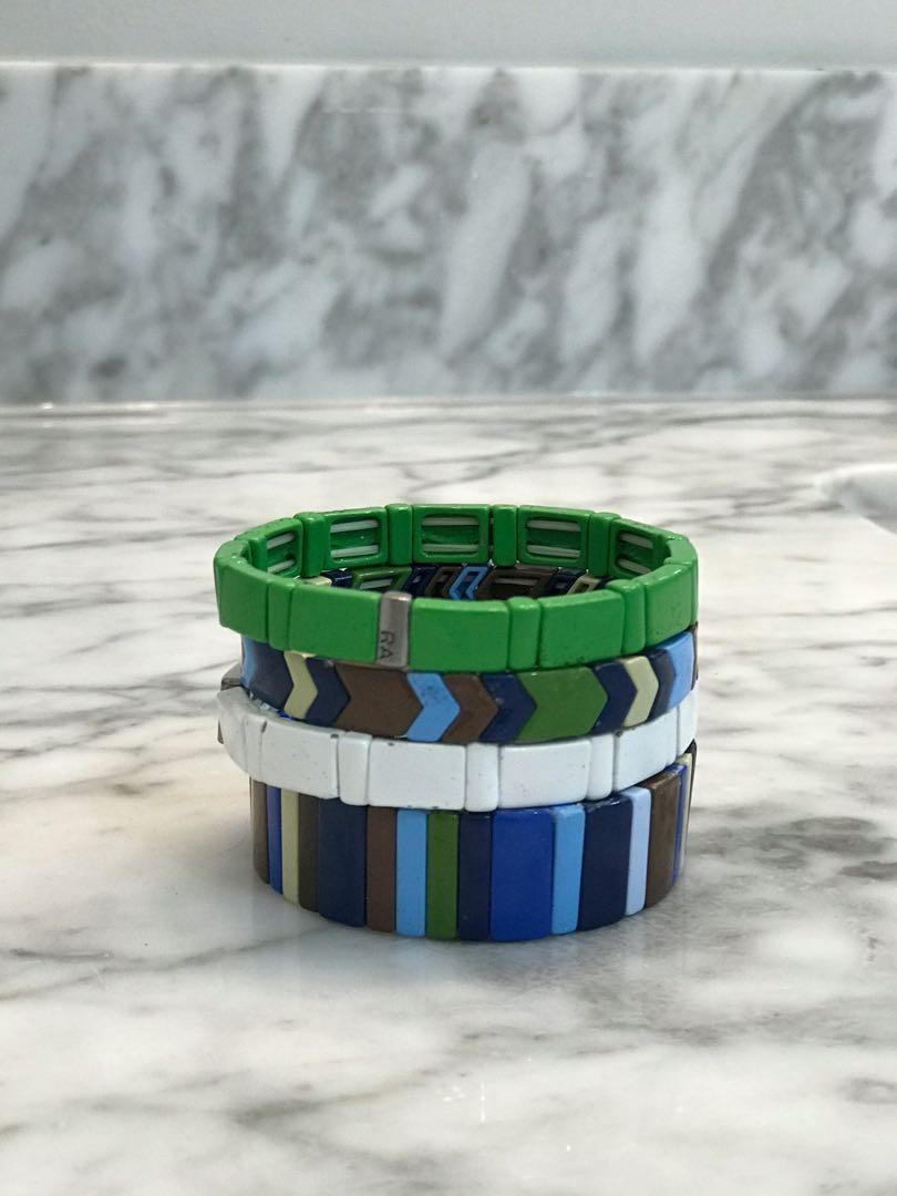 "Roxanne Assoulin set of 4 bracelets, ""mood indigo"""