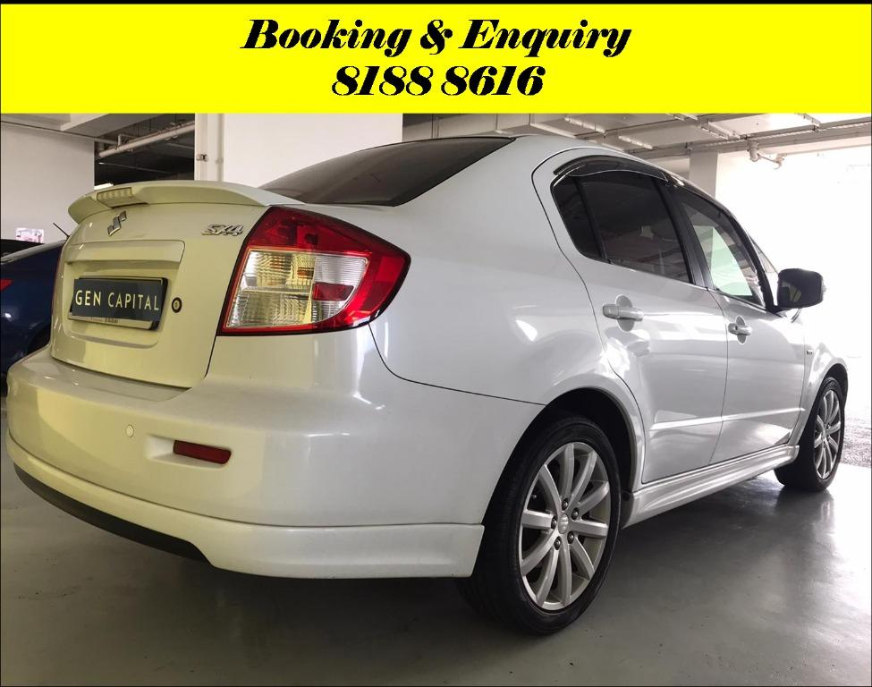 Suzuki SX4 Tuesday Promo with 2days free rentals!! Super Fuel efficient & Spacious. Cheapest rental in town with just $500 Deposit driveoff immediately. Whatsapp 8188 8616 now to reserve!