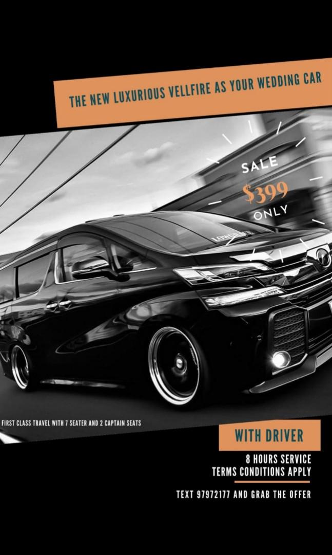 The New Luxurious Toyota Vellfire as your wedding car