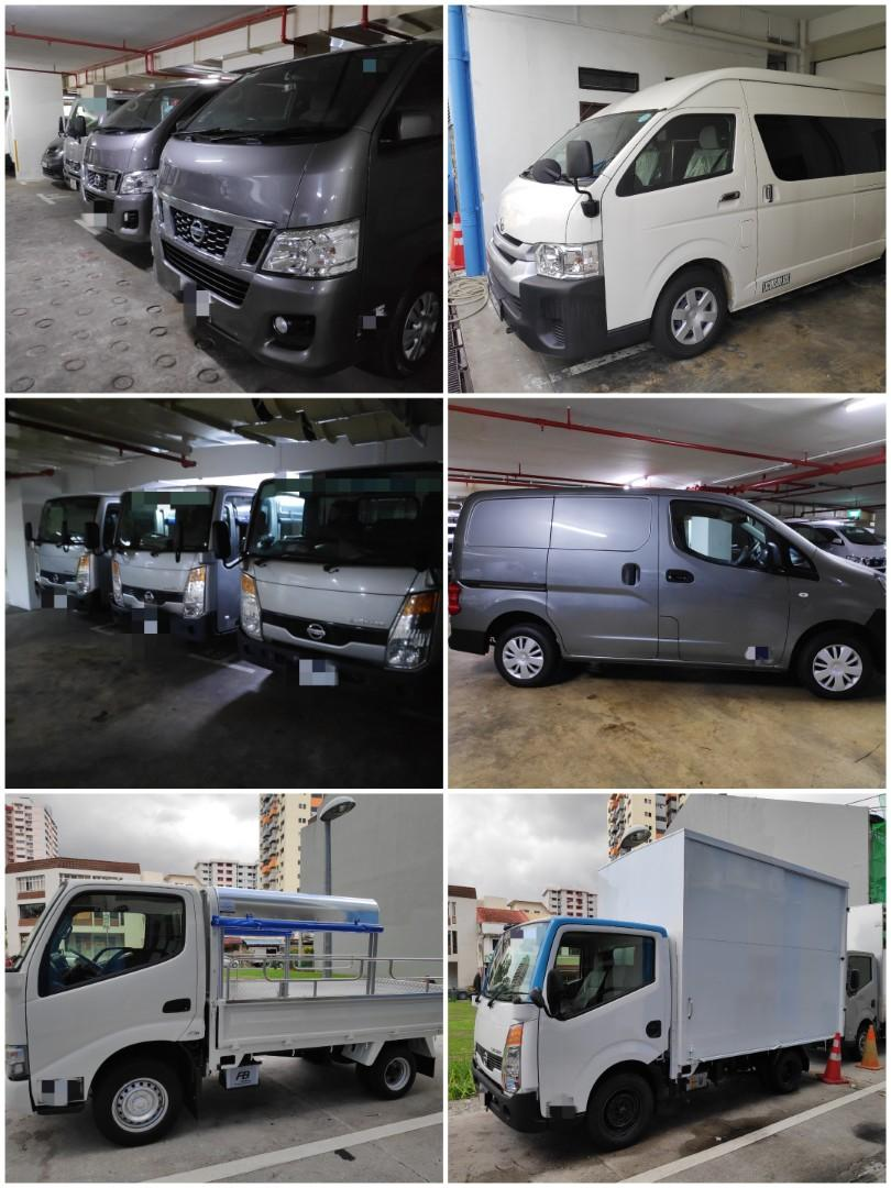 Low Deposit Brand New Vans and Lorries for rent! Individuals/Corporate welcomed!