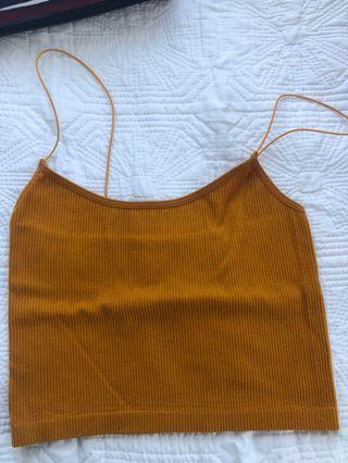 Glassons yellow crop top