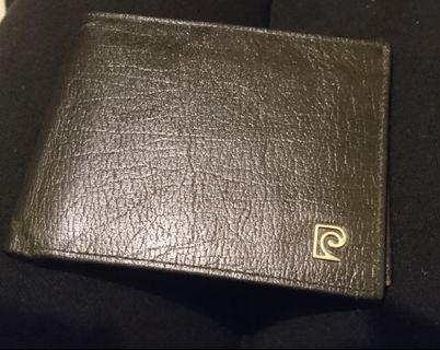 全新未用)pierre cardin 黑色皮夾 短皮夾 皮爾卡登