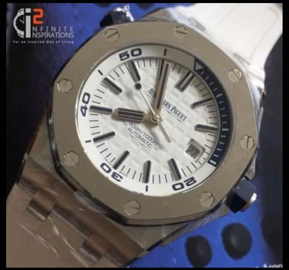 Audemars Piguet Diver White Boutique Exclusive 15710st - Unworn Complete with box and papers. Warranty till Feb 2024.