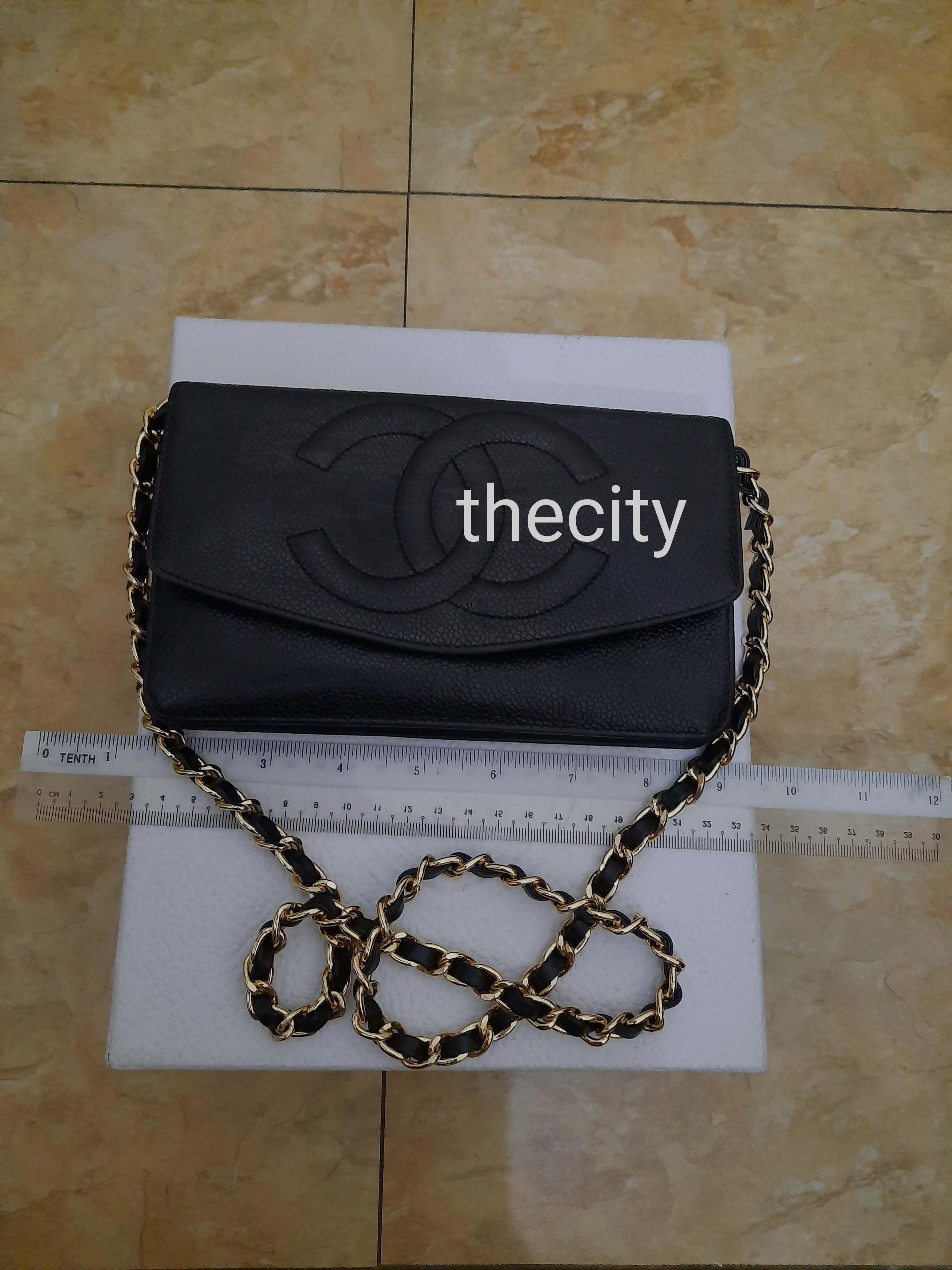 AUTHENTIC CHANEL XL ORGANIZER POUCH / WALLET - BLACK CAVIAR LEATHER- BIG CC LOGO DESIGN- GOLD HARDWARE- OVERALL GOOD, CLEAN INTERIOR - HOLOGRAM STICKER INTACT , DATE OF PURCHASE STICKER INTACT- CLASSIC TIMELESS VINTAGE DESIGN- COMES WITH EXTRA ADD STRAP