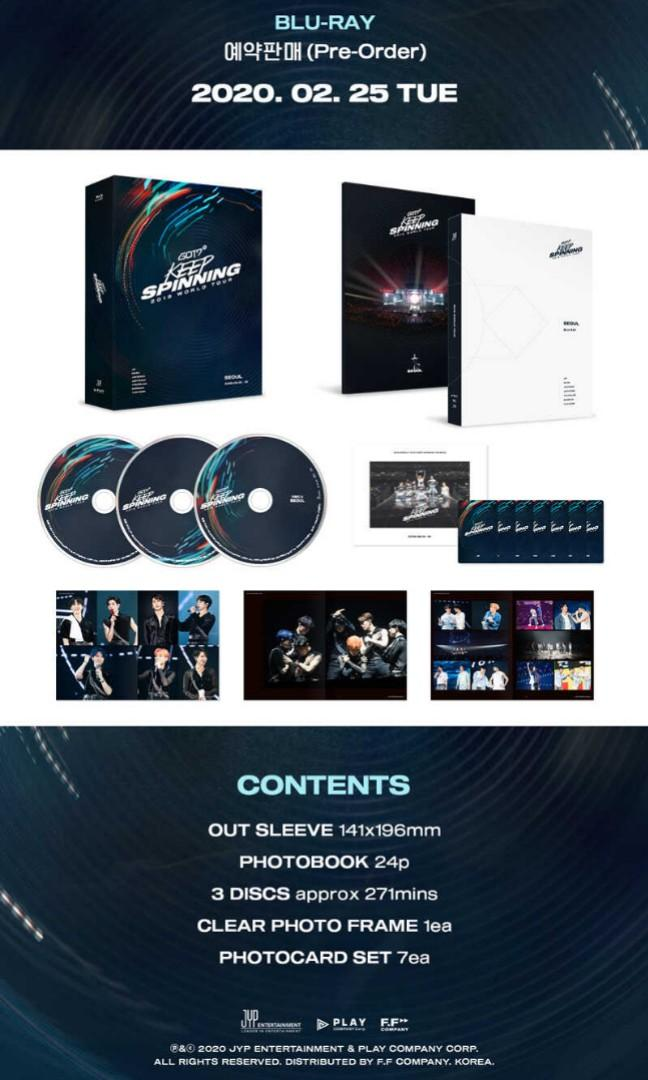 GOT7 - GOT7 2019 WORLD TOUR 'KEEP SPINNING' IN SEOUL BLU-RAY (3DISC)