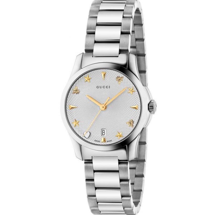 Gucci G-Timeless Silver Dial Couple Watch YA1264028 (38mm)  & YA126572 (27mm)