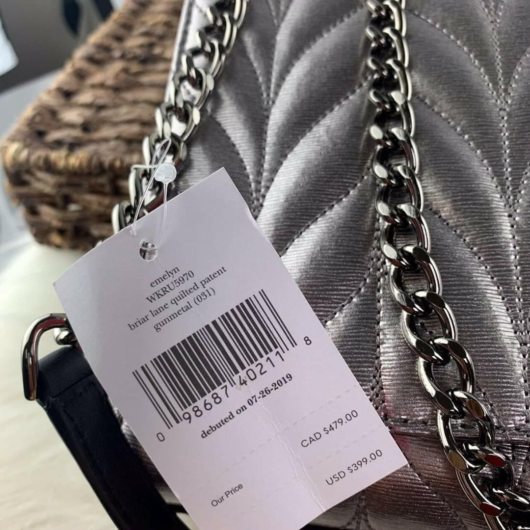 Kate Spade Briar Lane Quilted Patent Leather Emelyn Convertible Handbag