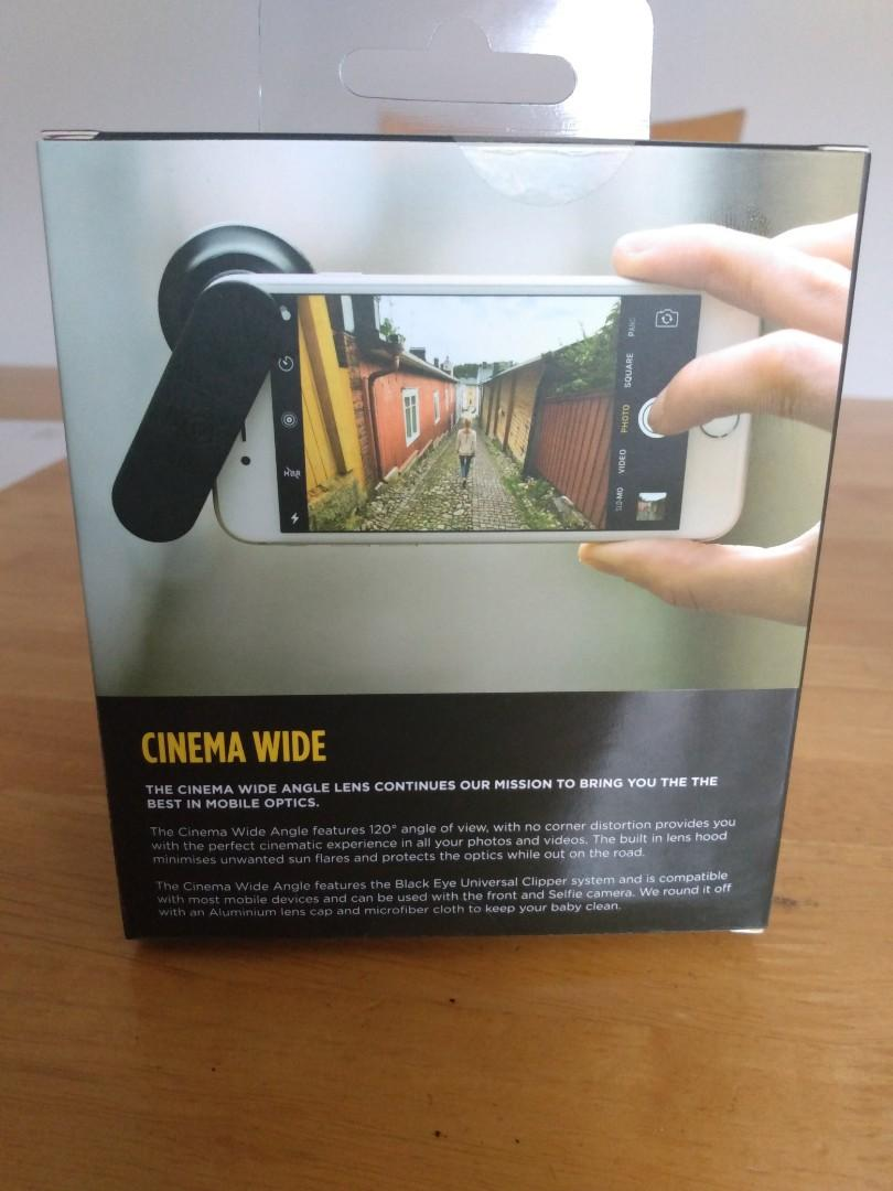 Lens Attachments Black Eye Pro Cinema Wide angle Clip-on lens for smartphones