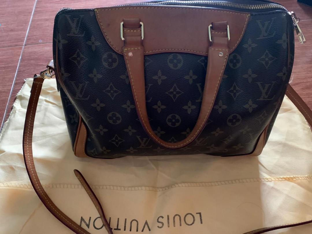 Louis Vuitton Speedy original leather bahan kulit asli ada no seri Like New fullset