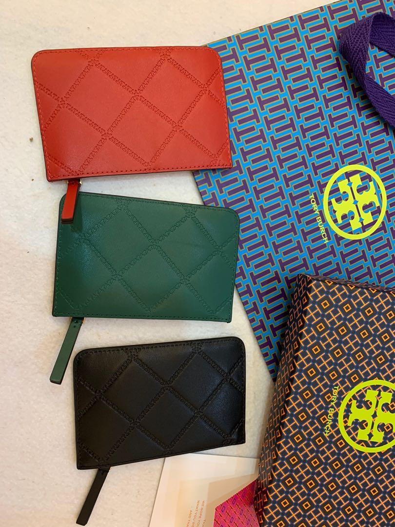 Ready Stock authentic Tory Burch card holder McGraw all 3 colours ready stock