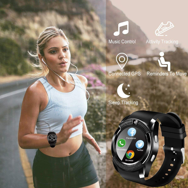 SEPVER Smart Watch, Bluetooth Smartwatch Touch Screen Wrist Watch with Camera/SIM Card Slot,Waterproof Smart Watch Android Phone Watch for iOS Android Phones Samsung Huawei amsung Huawei Sony LG HTC Google Men...