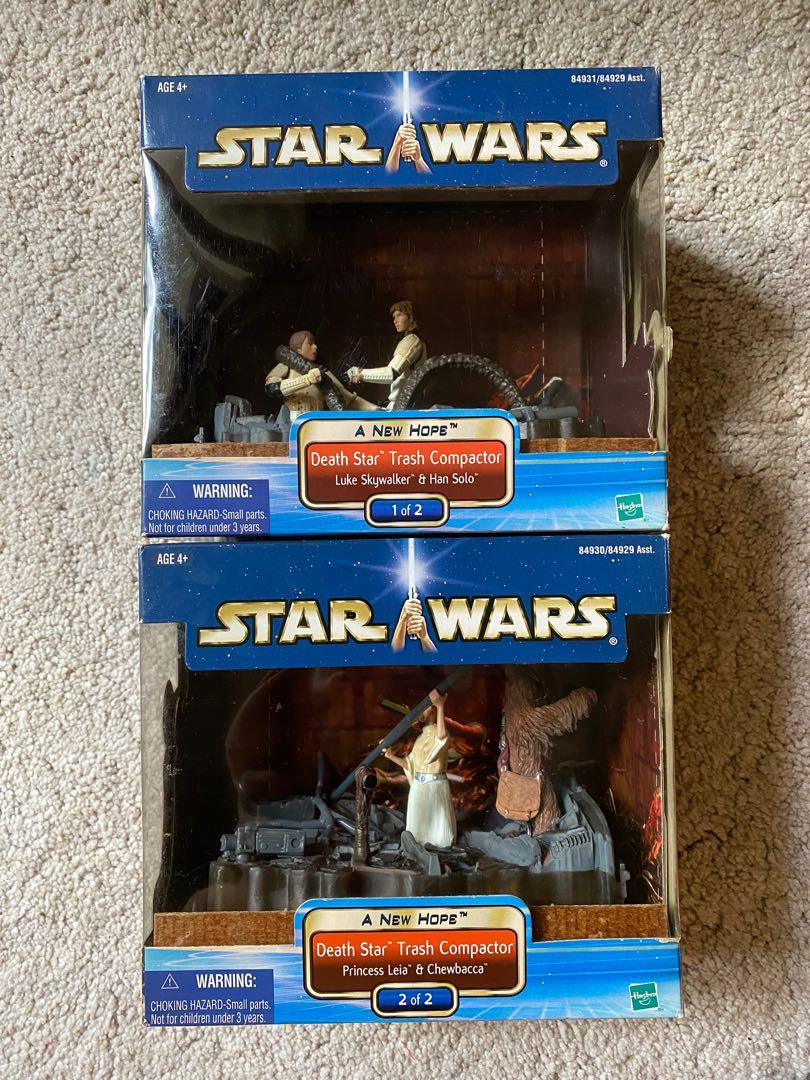 Death Star Trash Compactor STAR WARS 1 of 2 2 of 2 SET A New Hope Saga
