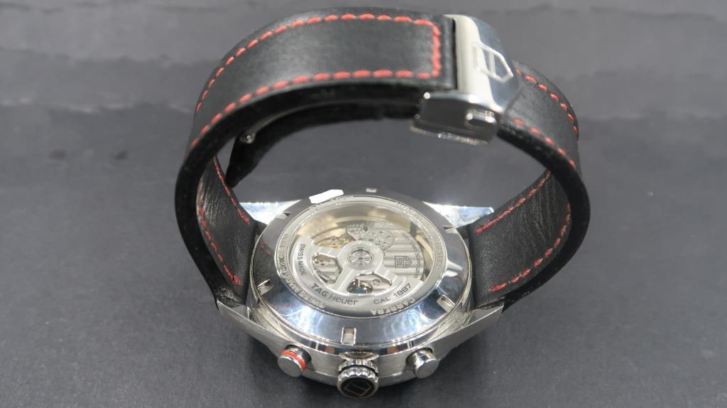 Tag Heuer Carrera CAR2A10.FC6235 Custom Made Leather Strap With Deployment Buckle