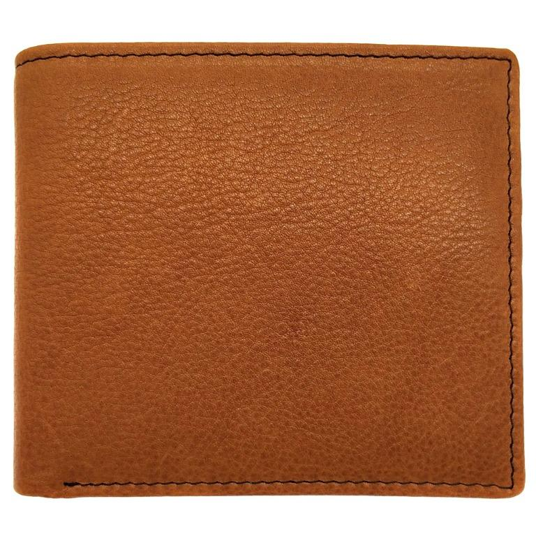 The Ninja Co. Full Grain Natural Leather Billfold Coin Pocket Wallet Money Card Holder Purse Men Women Gifts NJ 8853