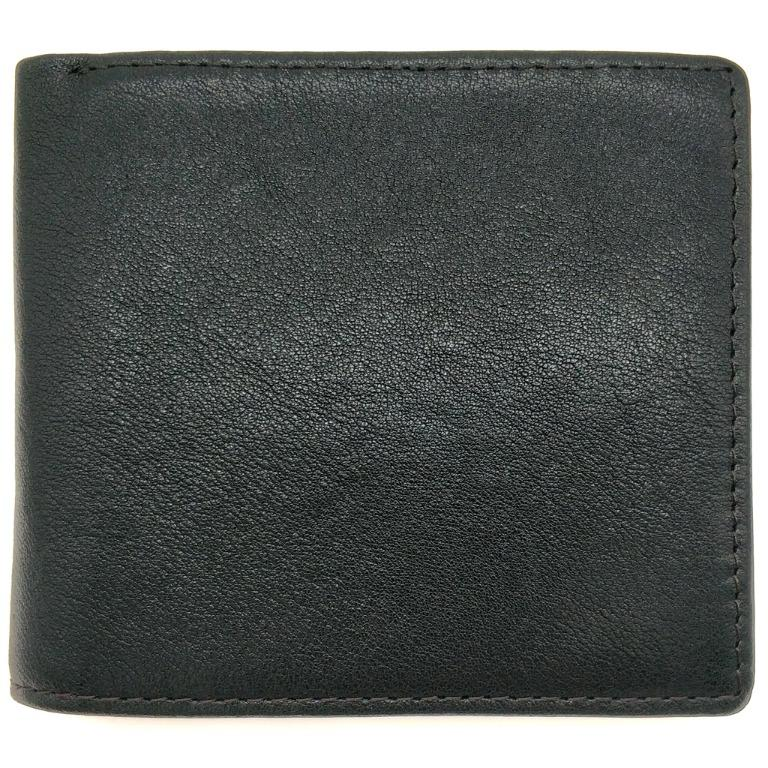 The Ninja Co. Full Grain Natural Leather Billfold Coin Pocket Wallet Money Card Holder Purse Men Women Gifts NJ 8854