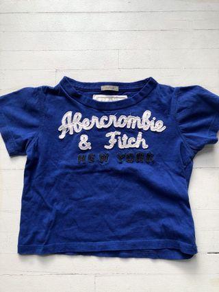 Abercrombie navy blue baby tee