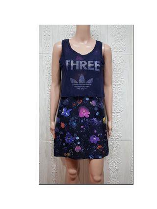 Adidas Layered Floral Dress
