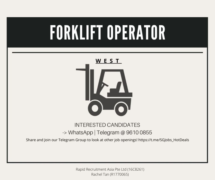 🚧 Forklift Driver - West ($10/hr | Transport Provided)