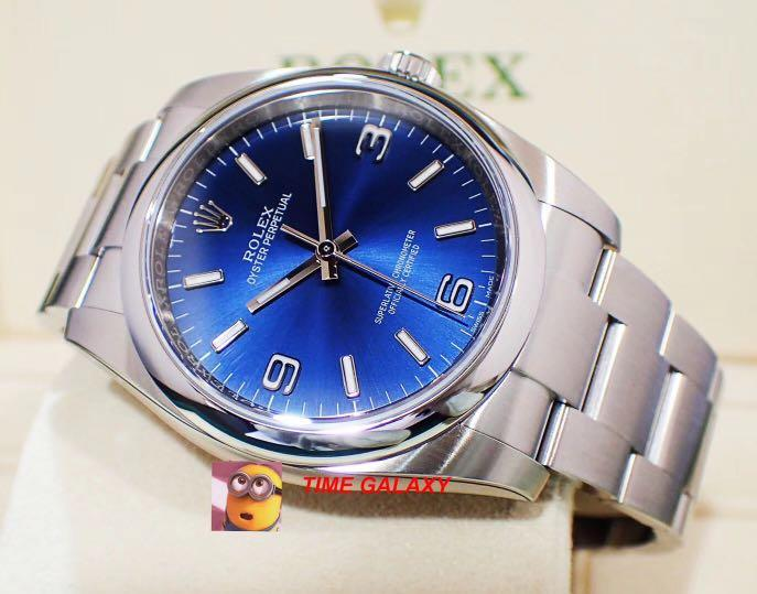 Brand New ROLEX Oyster Perpetual 36MM Blue Dial. Swiss made. Ref model : 116000