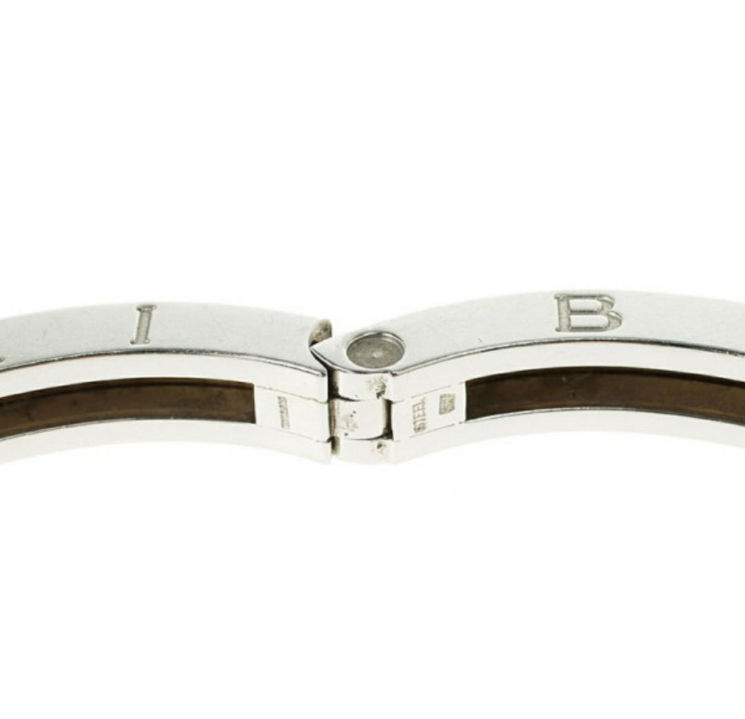 Bvlgari B.Zero1 Stainless Steel and 18K Yellow Gold Bangle Bracelet comes with box certification