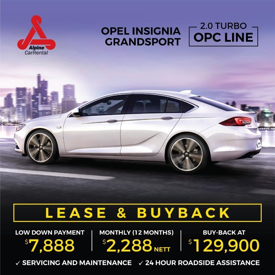 (CHARLES) OPEL INSIGNIA 2.0 TURBO AWD LEASE & BUYBACK CAR RENTAL