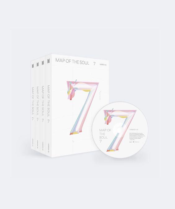 [FREE BTS AURORA FRAME] WTS BTS MAP OF THE SOUL : 7 ALBUMS