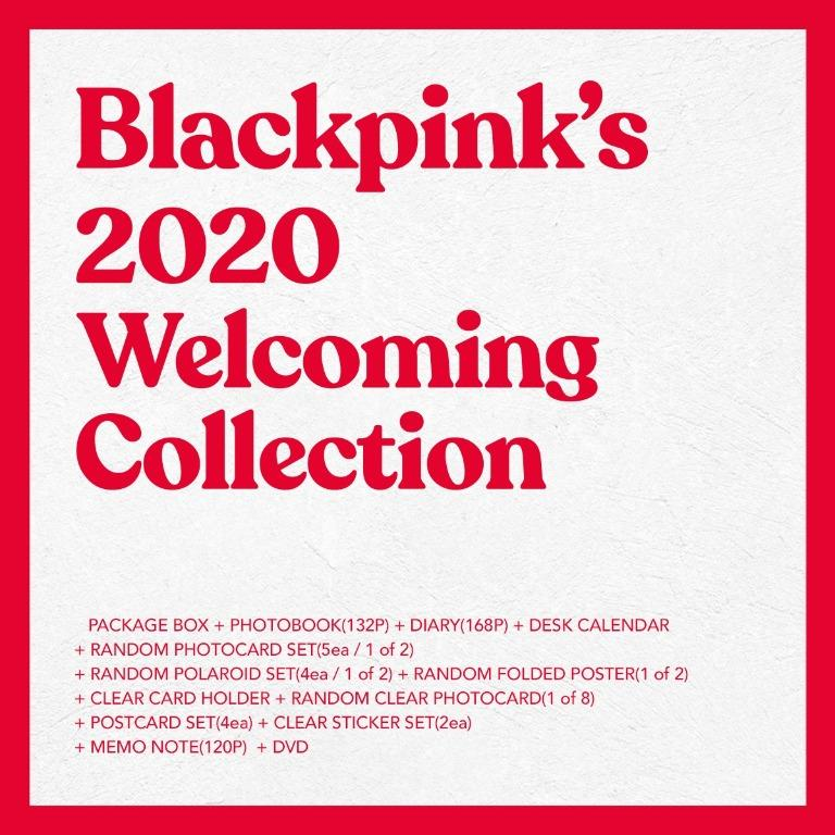 [GO] BLACKPINK 2020 WELCOMING COLLECTION ktown4u PO benefit : Unrevealed Photocard Total 8p (2set)
