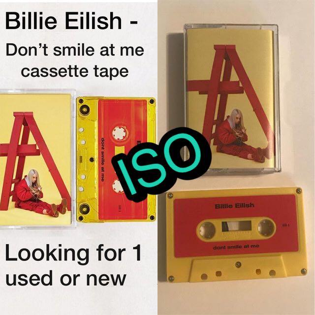 ISO Billie Eilish don't smile at me cassette tape UO exclusive Urban outfitters