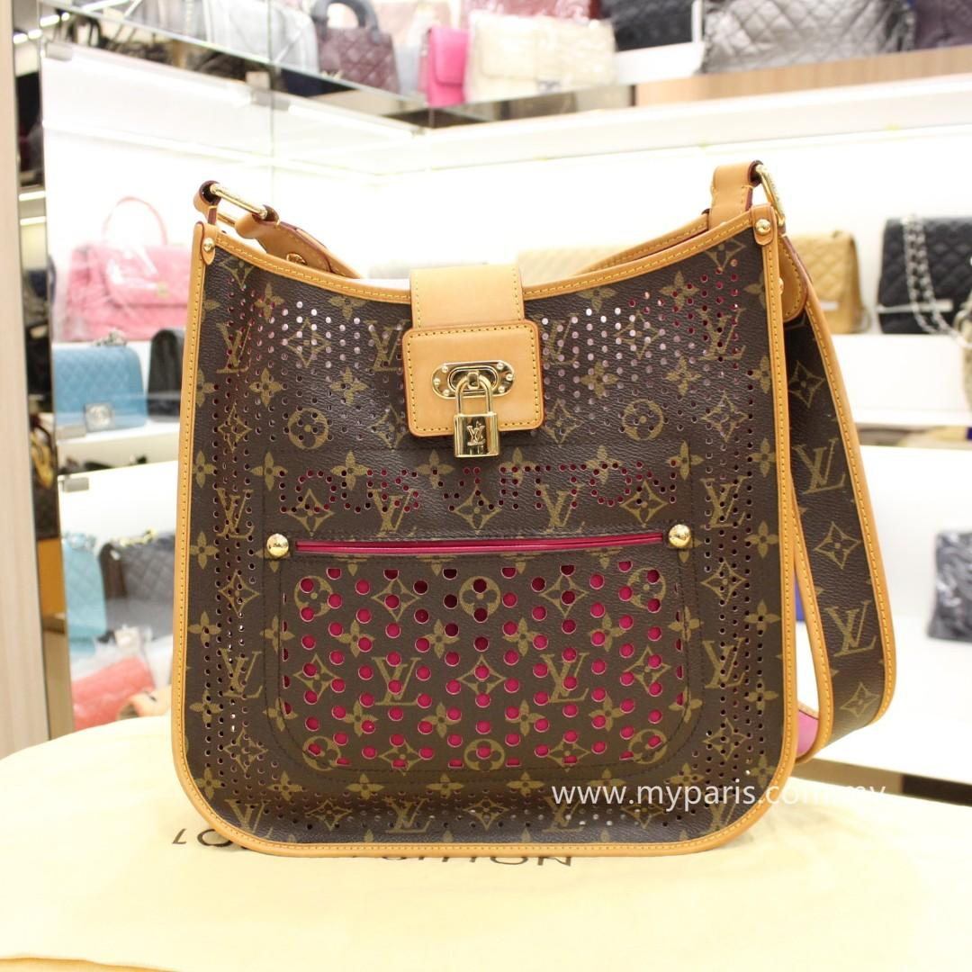 Louis Vuitton limited Edition Fuchsia Monogram Perforated  Musette Bag