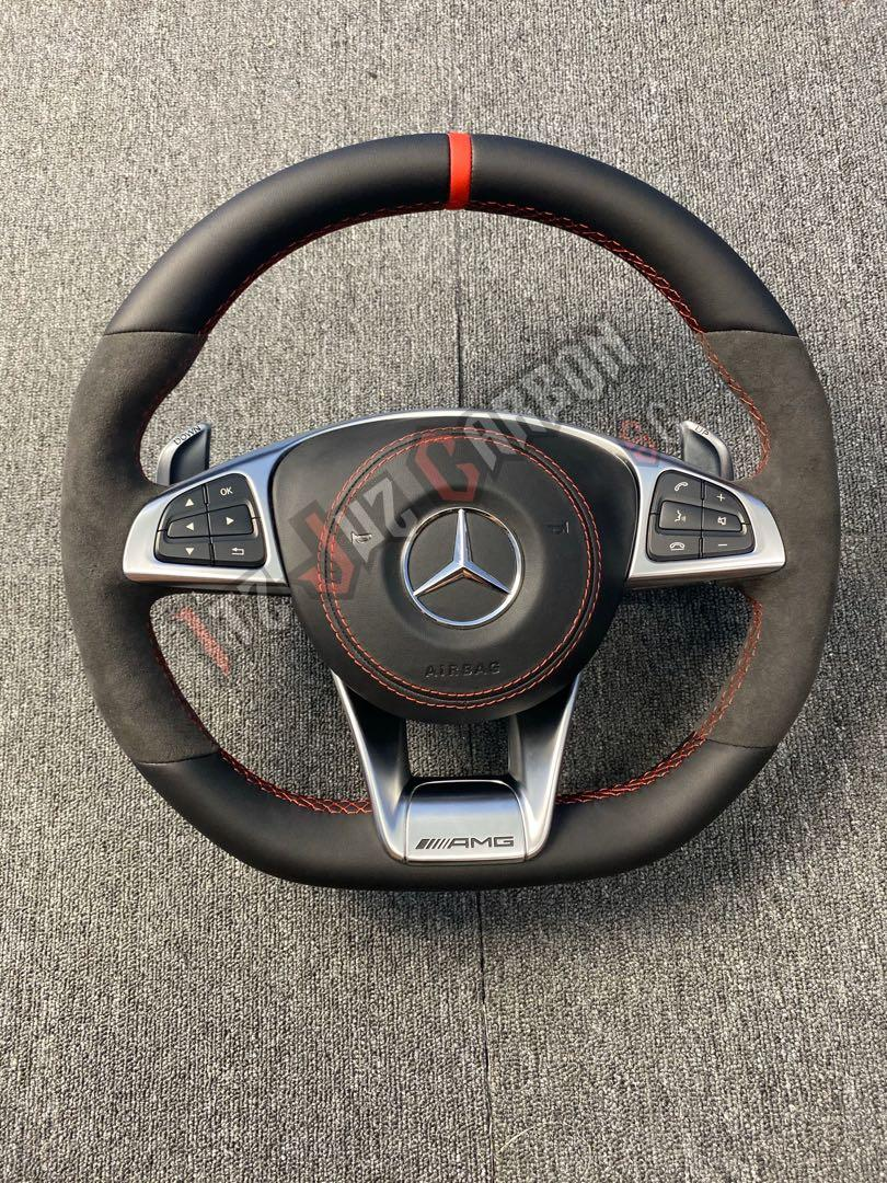 Mercedes A45 Amg Original Leather Steering Wheel Car Accessories Accessories On Carousell