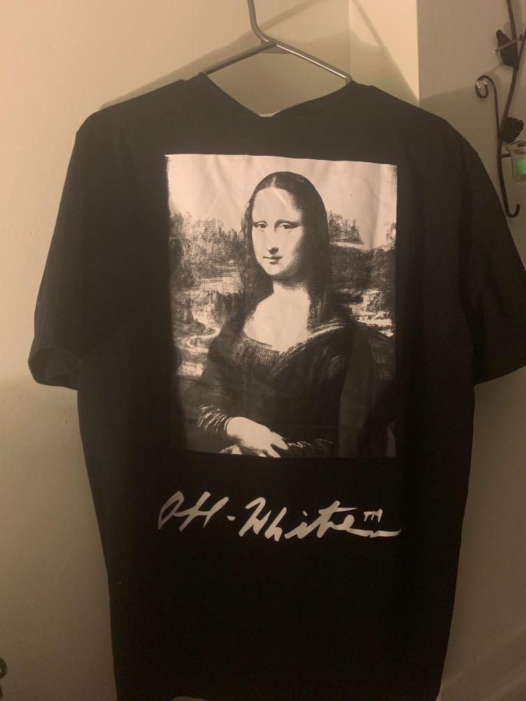 Off white Mona Lisa by Virgil Abloh. Oversized Shirt Large size