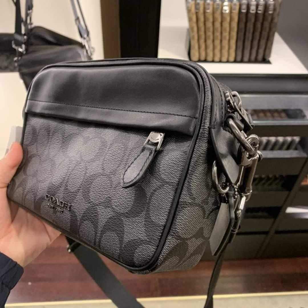 READY STOCK USA COACH OUTLET Coach F50715 GRAHAM CROSSBODY IN SIGNATURE CANVAS