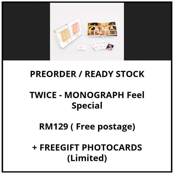 TWICE - MONOGRAPH Feel Special - PREORDER/READY STOCK+ FREE GIFT PHOTOCARDS