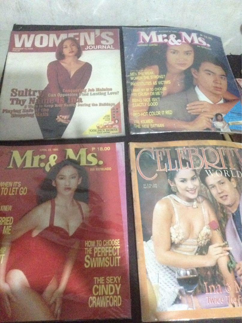 vintage Ina Raymundo magazines/4 pcs./1995 to 1998/Originals!/Nice set!