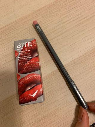 Brand new BITE beauty lip stick and pencil