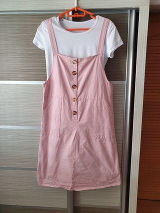 Pinafore Pink Dress